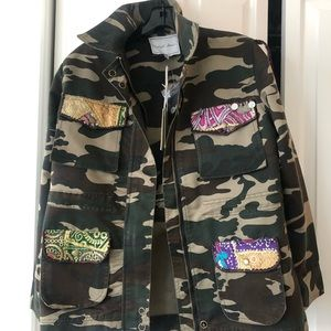 Jackets & Blazers - Embroidered camp jacket
